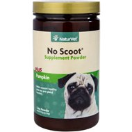 NaturVet No Scoot Plus Pumpkin Dog Powder Supplement, 155g bottle