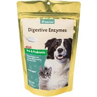 NaturVet Naturals Digestive Enzymes Dog & Cat Powder Supplement, 10-oz bag