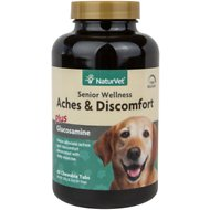NaturVet Senior Care Aches & Discomfort Dog Tablets, 60 count