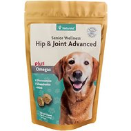NaturVet Senior Care Hip & Joint Advanced Formula Dog Soft Chews, 120 count