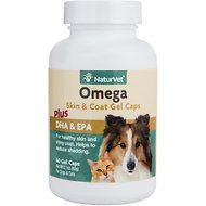 NaturVet Omega Dog & Cat Gel Caps