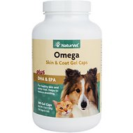 NaturVet Omega Dog & Cat Gel Caps, 180 count