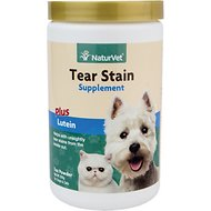 NaturVet Tear Stain + Lutein Dog & Cat Powder Supplement