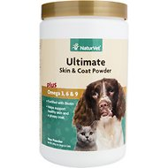 NaturVet Ultimate Skin & Coat Dog & Cat Powder Supplement, 14-oz bottle
