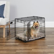 MidWest iCrate Double Door Fold & Carry Dog Crate, 24-inch