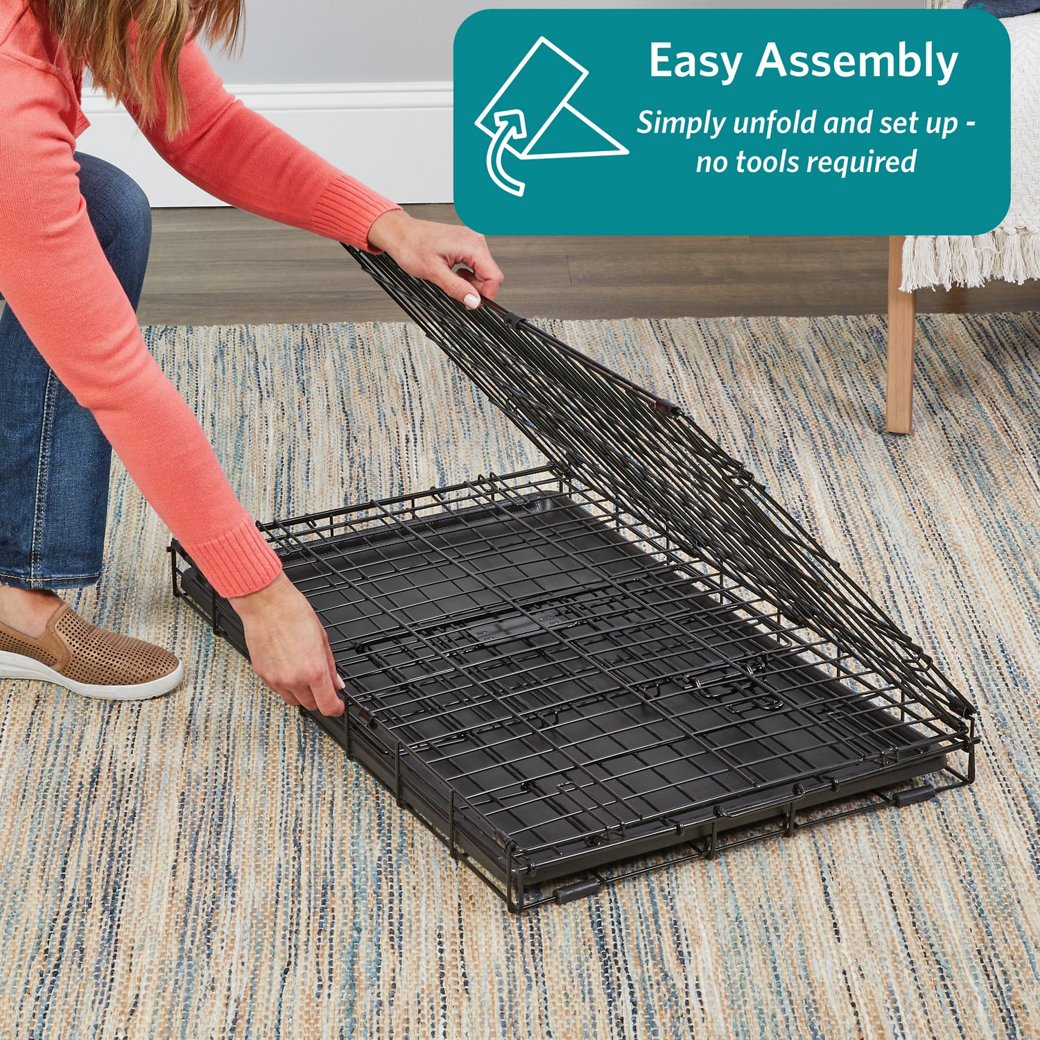 Midwest Icrate Double Door Fold Amp Carry Dog Crate 42 In