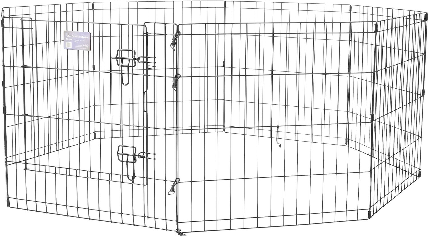 Midwest Exercise Pen With Step Thru Door Black E Coat 24