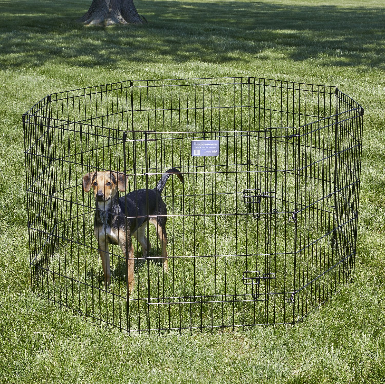 MidWest Exercise Pen with Step-Thru Door, Black E-Coat, 30 ...