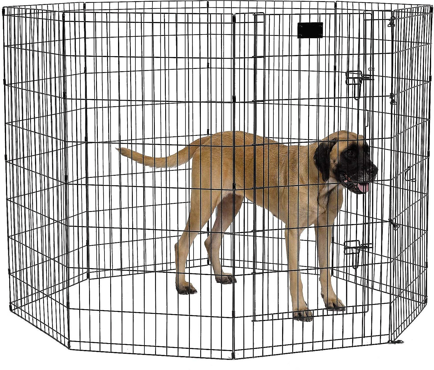 MidWest Exercise Pen with Step-Thru Door, Black E-Coat, 48 ...