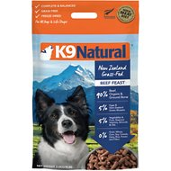 K9 Natural Beef Feast Raw Freeze-Dried Dog Food, 8-lb box