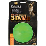 Starmark Treat Dispensing Chew Ball Dog Toy, Large
