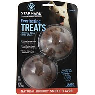 Starmark Everlasting Treats Natural Hickory Smoke Flavor Dog Dental Chews, Large