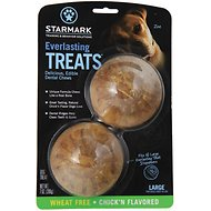 Starmark Everlasting Treats Wheat-Free Veggie Chick'n Flavor Dog Dental Chews, Large