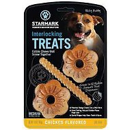Starmark Interlocking Treats Chicken Flavor Dog Chews, Medium