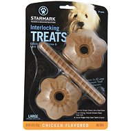 Starmark Interlocking Treats Chicken Flavor Dog Chews, Large