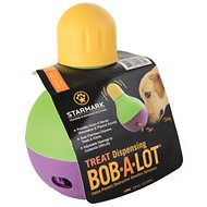 Starmark Treat Dispensing Bob-a-Lot Dog Toy, Large