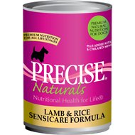 Precise Naturals Lamb & Rice Sensicare Formula Canned Dog Food, 13.2-oz, case of 12