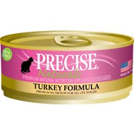Precise Naturals Turkey Formula Canned Cat Food, 5.5-oz case of 24