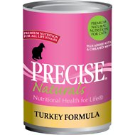Precise Naturals Turkey Formula Canned Cat Food, 13.2-oz, case of 12