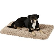 MidWest Quiet Time Ombre Swirl Dog & Cat Bed, Taupe, 36-inch