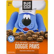 Blue Dog Bakery Doggie Paws Peanut Butter Dog Treats, 10-oz box
