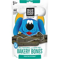 Blue Dog Bakery Bakery Bones Chicken with Omega-3 Dog Treats, 10-oz bag