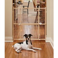 MidWest Wood/Wire Mesh Pet Gate, 32-inch