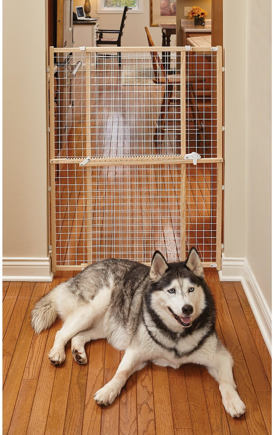 midwest woodwire mesh pet gate