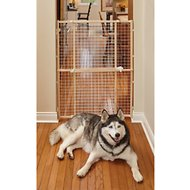 MidWest Wood/Wire Mesh Pet Gate, 44-inch