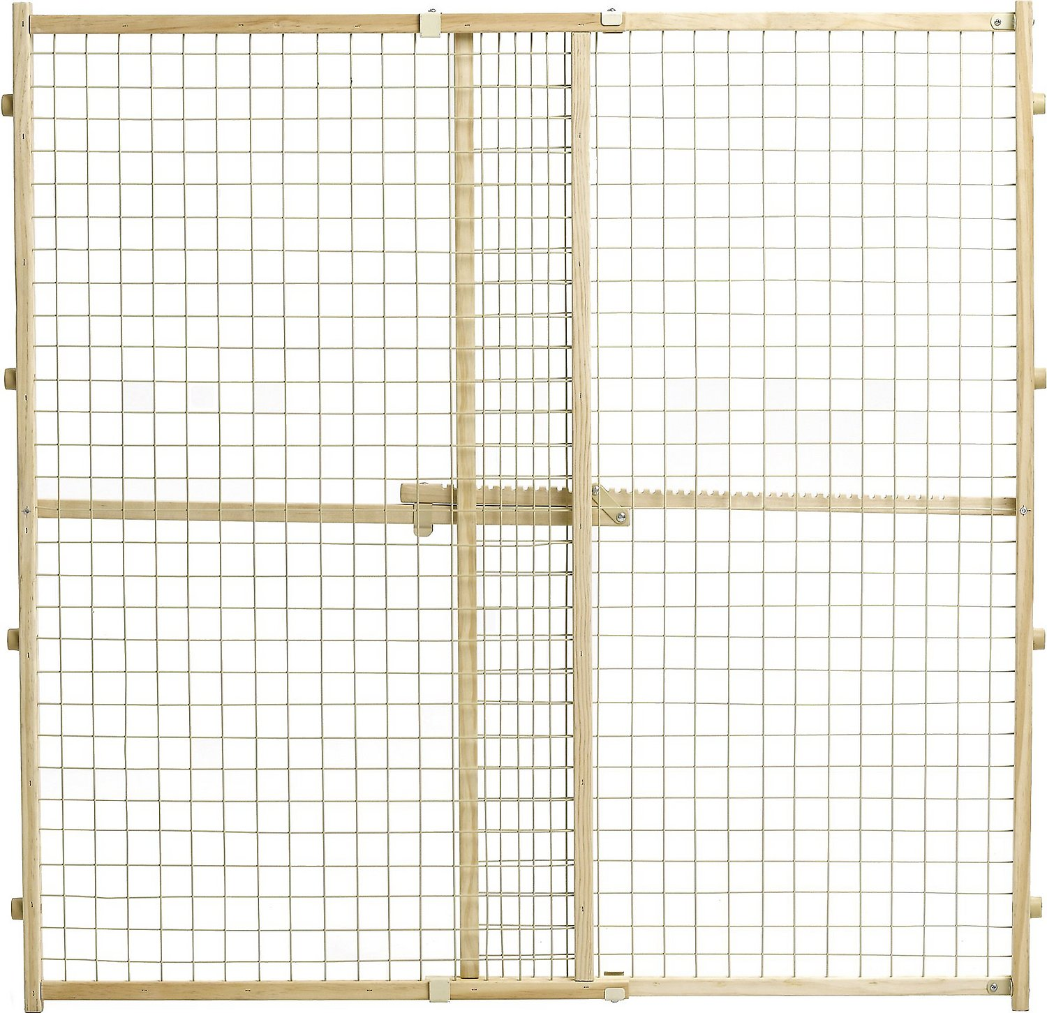 Midwest wood wire mesh pet gate in chewy