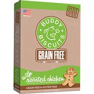 Buddy Biscuits Grain-Free Oven Baked with Rotisserie Chicken Dog Treats, 14-oz box