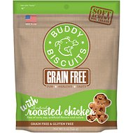 Buddy Biscuits Grain-Free Soft & Chewy with Rotisserie Chicken Dog Treats, 5-oz bag
