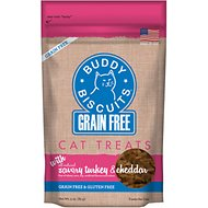 Buddy Biscuits Grain-Free with Savory Turkey & Cheddar Cat Treats, 3-oz bag