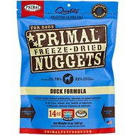 Primal Duck Formula Nuggets Grain-Free Freeze-Dried Dog Food, 14-oz bag