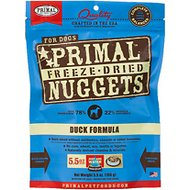 Primal Duck Formula Nuggets Grain-Free Freeze-Dried Dog Food, 5.5-oz bag