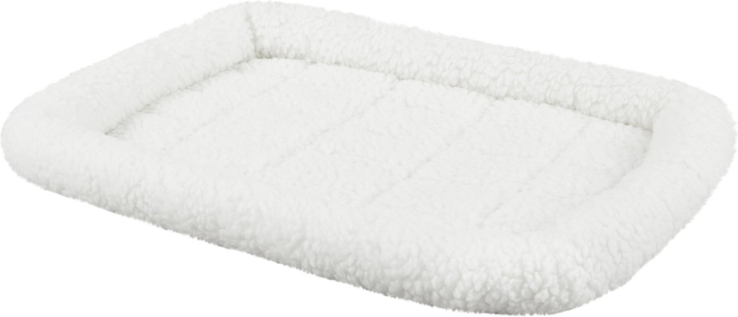 midwest quiet time fleece pet bed and crate mat, natural, 24-inch