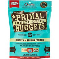Primal Chicken & Salmon Formula Nuggets Grain-Free Raw Freeze-Dried Cat Food, 5.5-oz bag