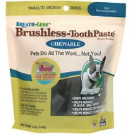 Ark Naturals Breath-Less Brushless Toothpaste Small to Medium Dog Chews, 12-oz bag