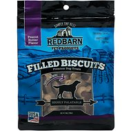 Redbarn Filled Biscuits Peanut Butter Dog Treats, 14-oz bag