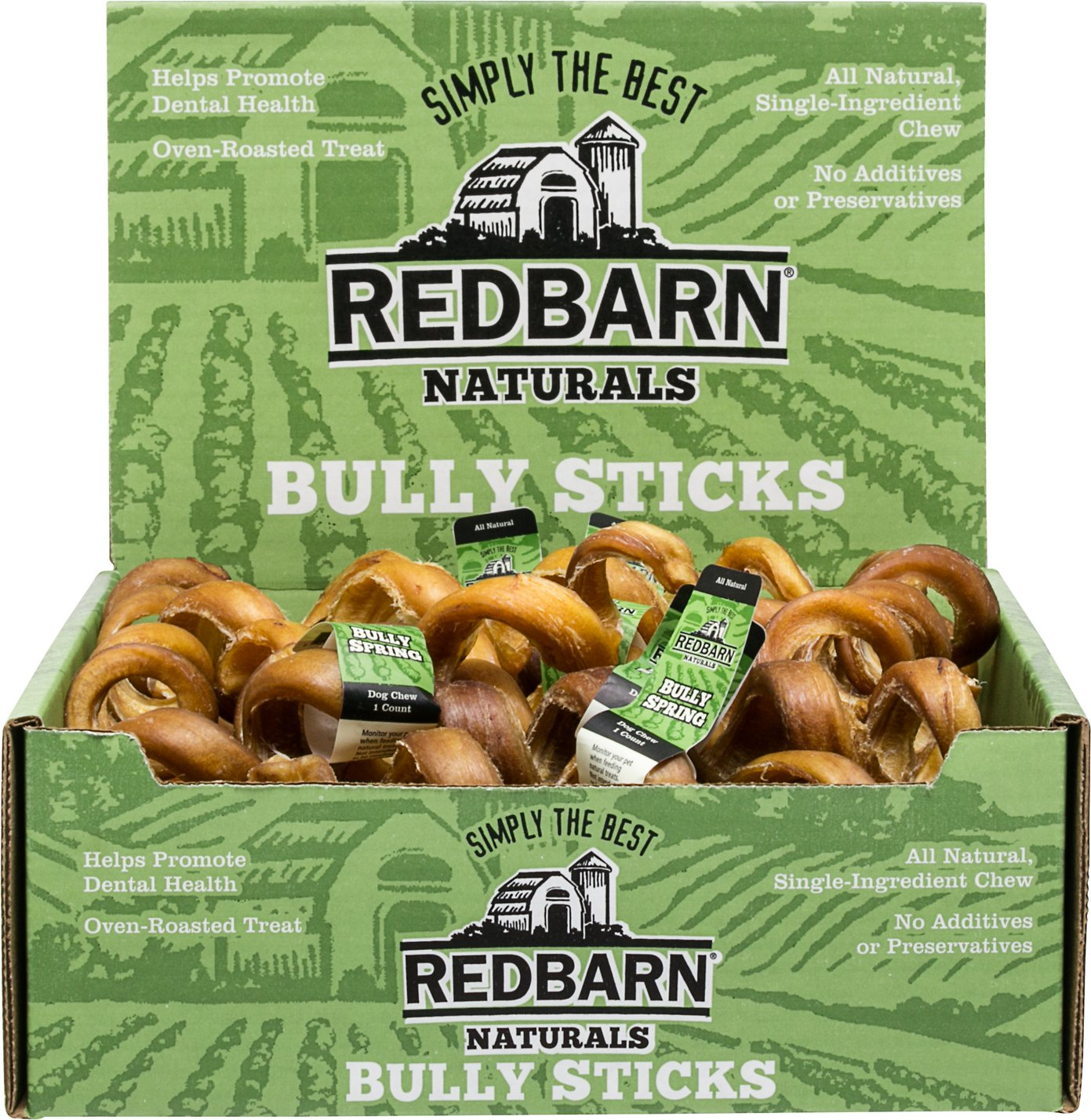 redbarn naturals bully springs 6 dog treats case of 25. Black Bedroom Furniture Sets. Home Design Ideas