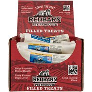 Redbarn Large Chicken Filled Bones Dog Treats, Case of 15