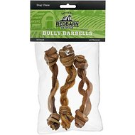 "Redbarn Naturals Bully Barbell 5"" Dog Treats, 3 count"