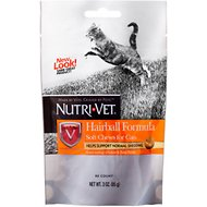 Nutri-Vet Hairball Formula Chicken & Tuna Flavor Cat Soft Chews, 3-oz bag