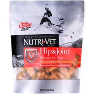 Nutri-Vet Hip & Joint Regular Strength Biscuits for Small & Medium Dogs Peanut Butter Flavor Treats, 19.5-oz bag