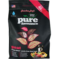 Grandma Lucy's Pureformance Grain-Free Goat Freeze-Dried Dog Food, 10-lb bag
