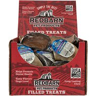 Redbarn Peanut Butter Filled Cow Hooves Dog Treats, 25 count