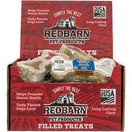 Redbarn Peanut Butter & Jelly Filled Rawhide Bones Dog Treats, 4.75-in chew, case of 24