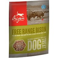 Orijen Free Range Bison Singles Freeze-Dried Dog Treats, 3.5-oz bag