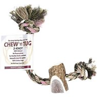 Wapiti Labs Chew 'n Tug 2-Knot Dog Chew Toy, Color Varies