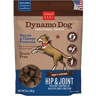 Cloud Star Dynamo Dog Hip & Joint Soft Chews Bacon & Cheese Formula Dog Treats, 14-oz bag
